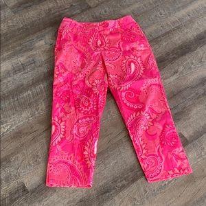 Liz Claiborne paisley women's Capri pants 10P